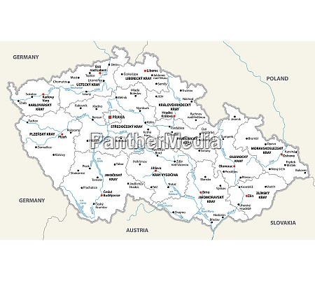 czech republic administrative and political vector