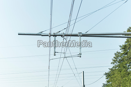 detail of overhead contact wire from