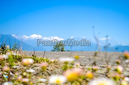 kanchenjunga mountain range from pelling helipad