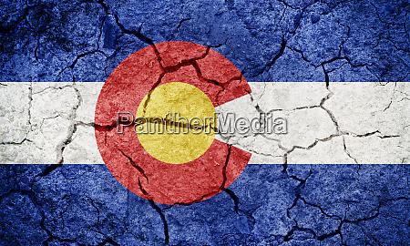flagge des bundesstaates colorado