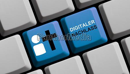 blaue computertastatur last will digital