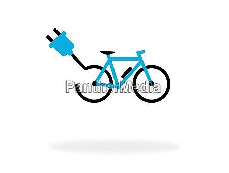 ebike symbol fuer das radfahren mit