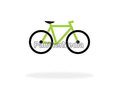 fahrrad symbol fuer das fahren auf