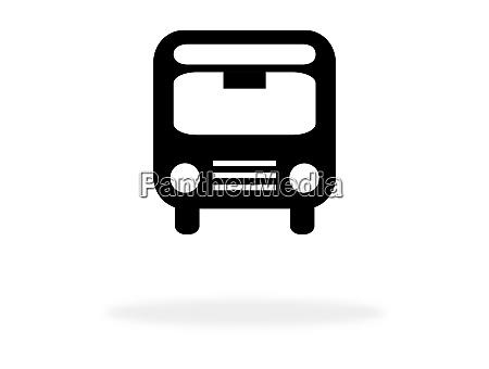 bussymbol fuer den oeffentlichen verkehr