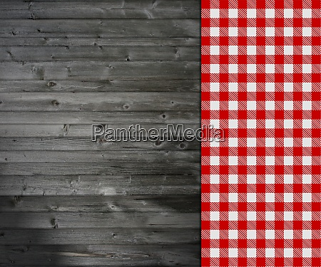 tablecloth red and white on grey