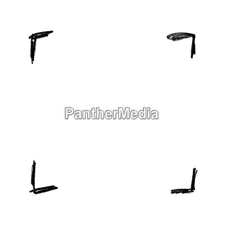 hand bemalte skizze von schwarzen bleistift