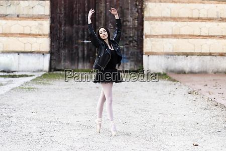 italy verona portrait of ballerina dancing