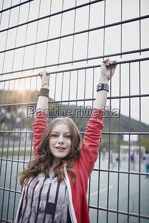 portrait of a happy teenage girl
