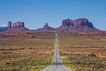 usa arizona monument valley empty road