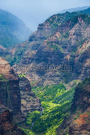 usa hawaii kauai overlook over the