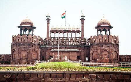 red fort delhi indien 1 mai
