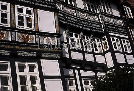 old town facade in hildesheim