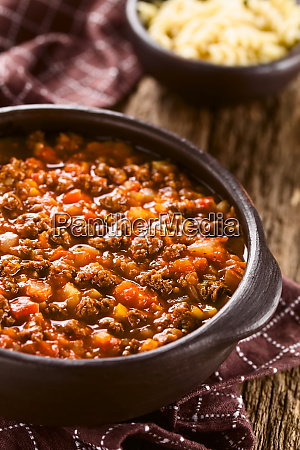 vegan soy meat bolognese sauce