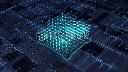 abstrakte futuristische platine