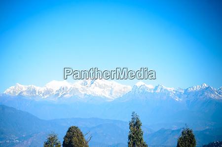 beautiful view of kanchenjunga mountain range