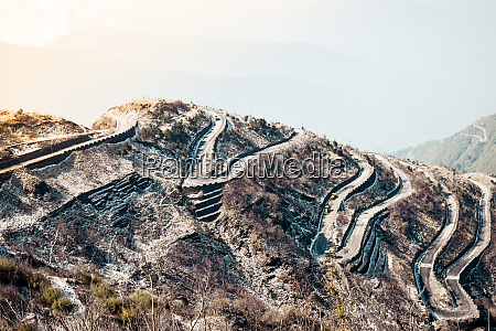 rugged terrain of lower himalayas in