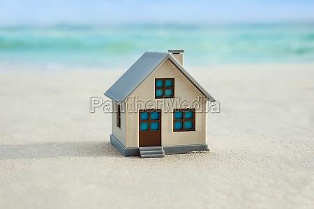house model on the beach