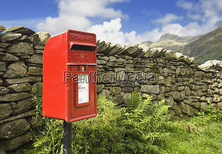 rote mailbox in english lake district