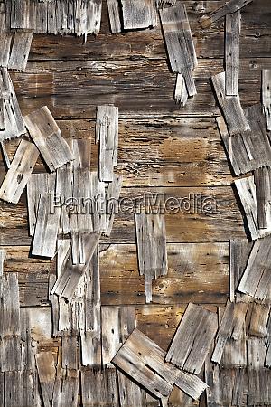 old wood schindeln auf gebaeude mendocino