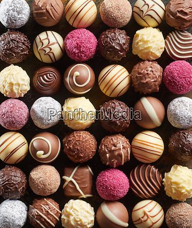 vollformathintergrund von gourmet schokoladen