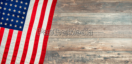 american flag lying on an aged