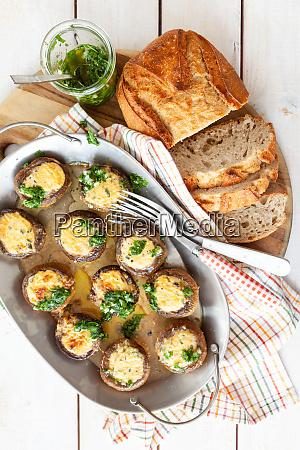 stuffed chestnut mushrooms