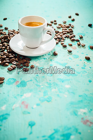 cup of strong freshly brewed espresso
