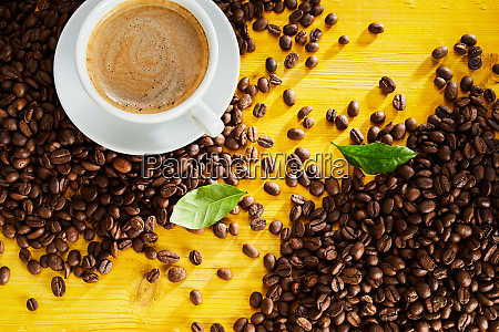 cup of frothy cappuccino coffee with