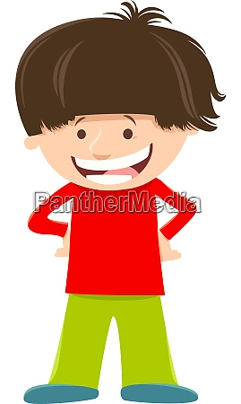 elemntary age kid boy cartoon character