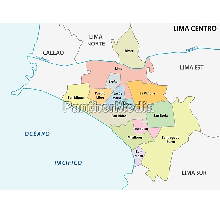 lima center area administrative and political