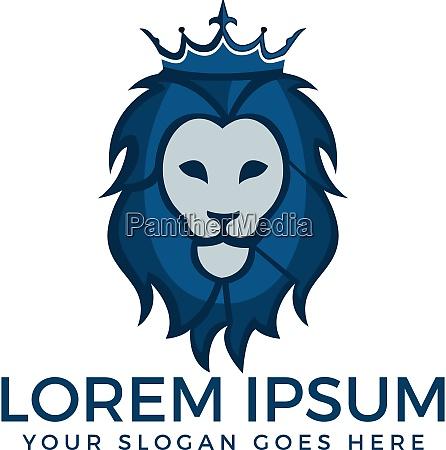 löwenkönig, logo, vektor-design. - 26993008