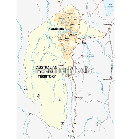 map of the australian capital territory