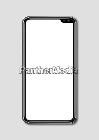 all screen blank smartphone mockup isolated