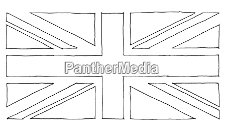 handgezeichnete flagge des vereinigten koenigreichs uk
