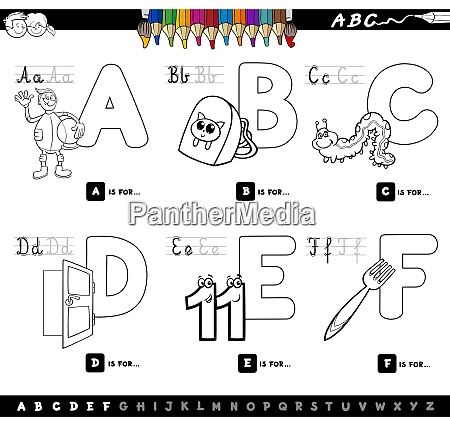 educational alphabet letters color book for
