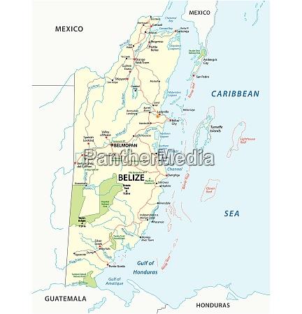 strassen und nationalparkkarte des zentralafrikanischen staates