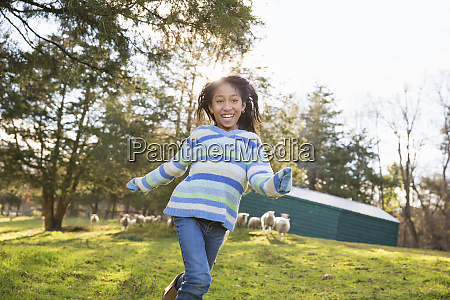 a young girl in a