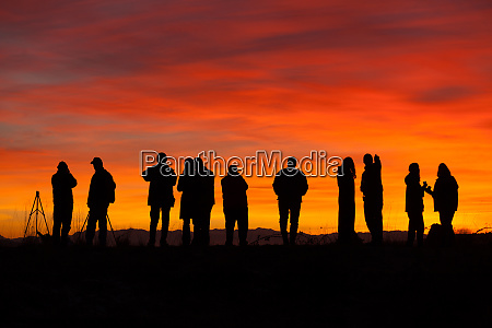 photographers at sunset skagit flats washington