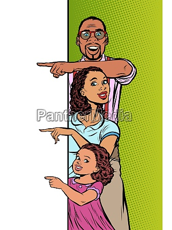 ankuendigungswerbung afroamerikanische familie