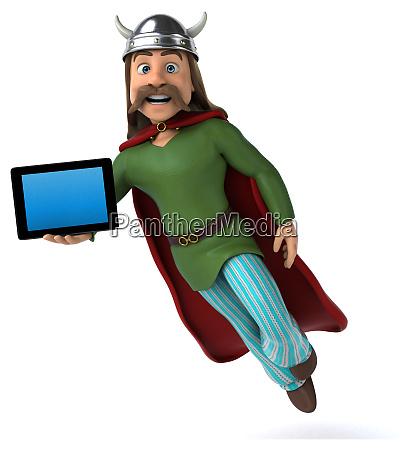 super, moderne, superheld, -, 3d-illustration - 27015290