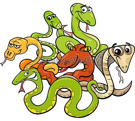 lustige schlangen cartoon tier figuren