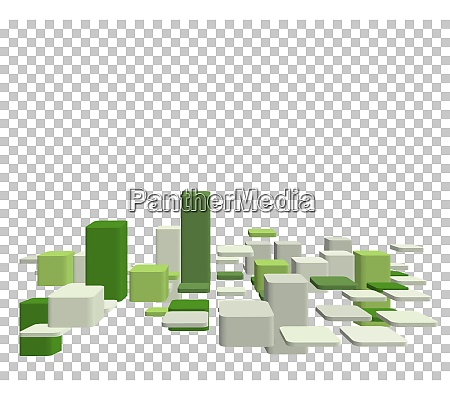 abstract 3d checked