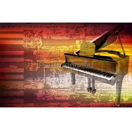 abstract grunge piano background with grand
