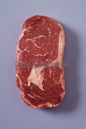 thick succulent marbled beef steak on
