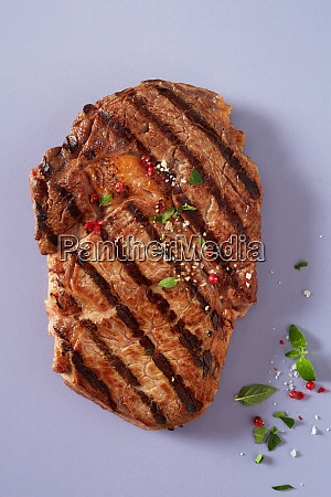 portion of lean tender marinated grilled
