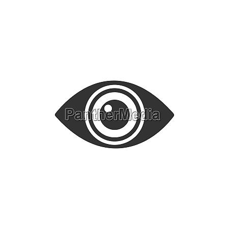 body senses vision eye icon on