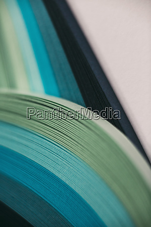 abstract blue and green paper wave