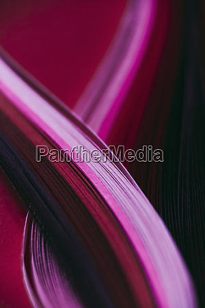 abstract pink and red paper wave