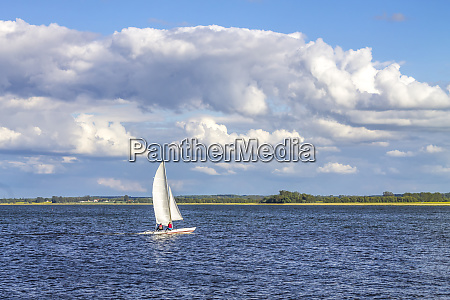 germany mecklenburg lake district waren sailing
