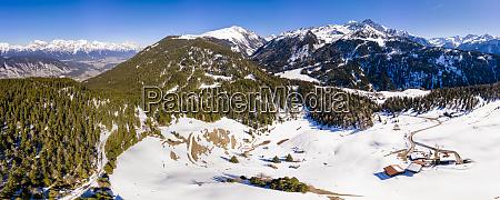 austria tyrol stubai alps aerial view
